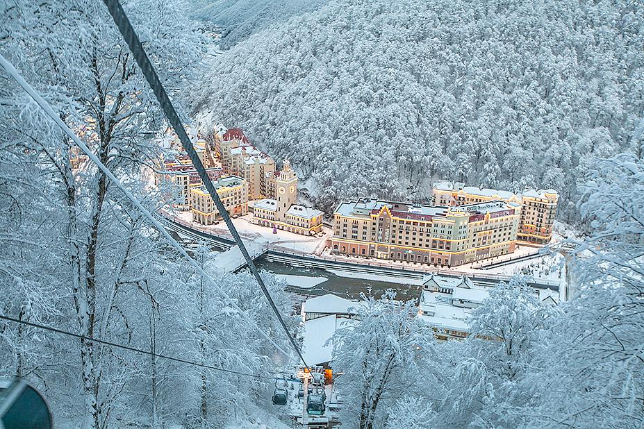 Снежная королева на горнолыжном курорте